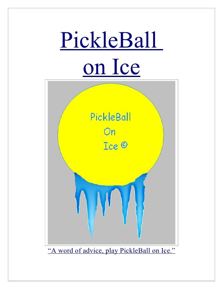 Sponsorship Project (Pickleball On Ice)