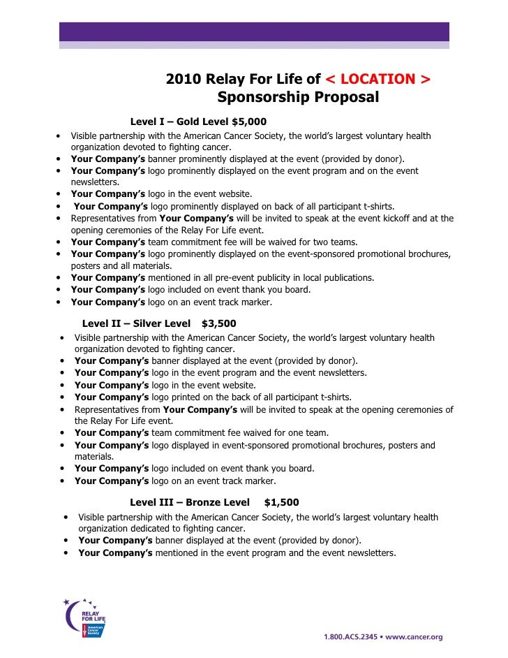 Doc585600 Athlete Sponsorship Proposal Template Sponsorship – Sample of a Sponsorship Proposal