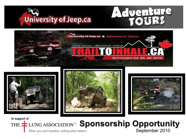 Sponsorship Proposal Universityofjeep Adventure Tours