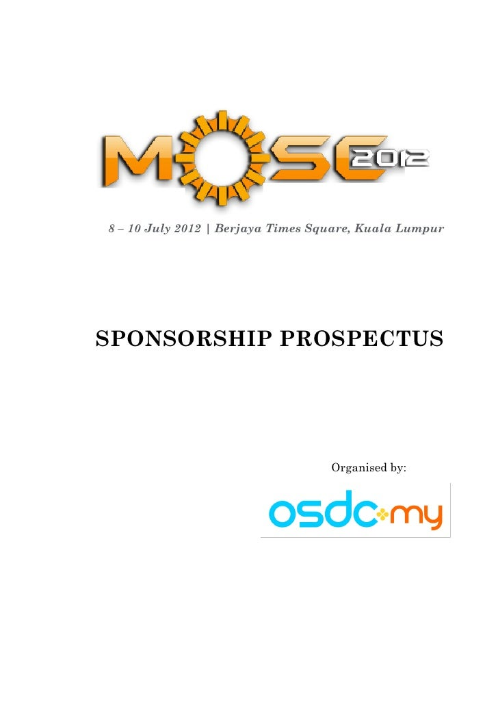 Sponsorship Prospectus Malaysia Open Source Conference 2012  (MOSC2012)
