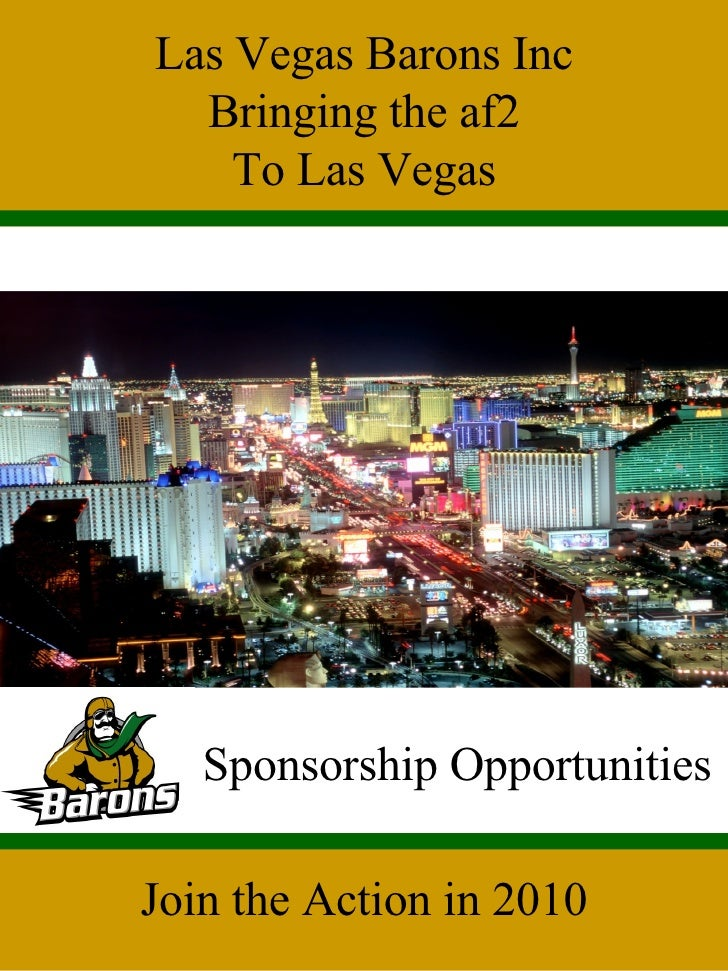 Las Vegas Barons Inc Bringing the af2 To Las Vegas Sponsorship Opportunities Join the Action in 2010