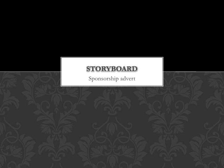Sponsorship storyboard