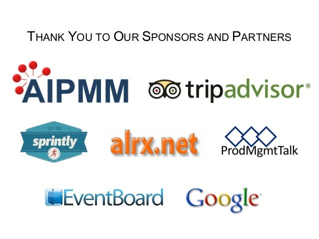 THANK YOU TO OUR SPONSORS AND PARTNERS