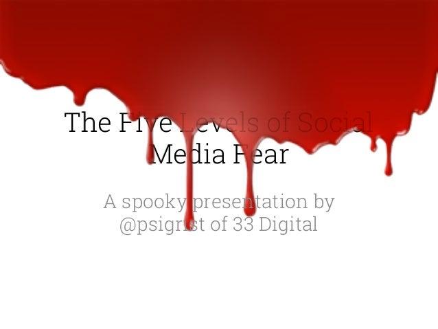 The Five Fears of Social Media, a Spooky presentation
