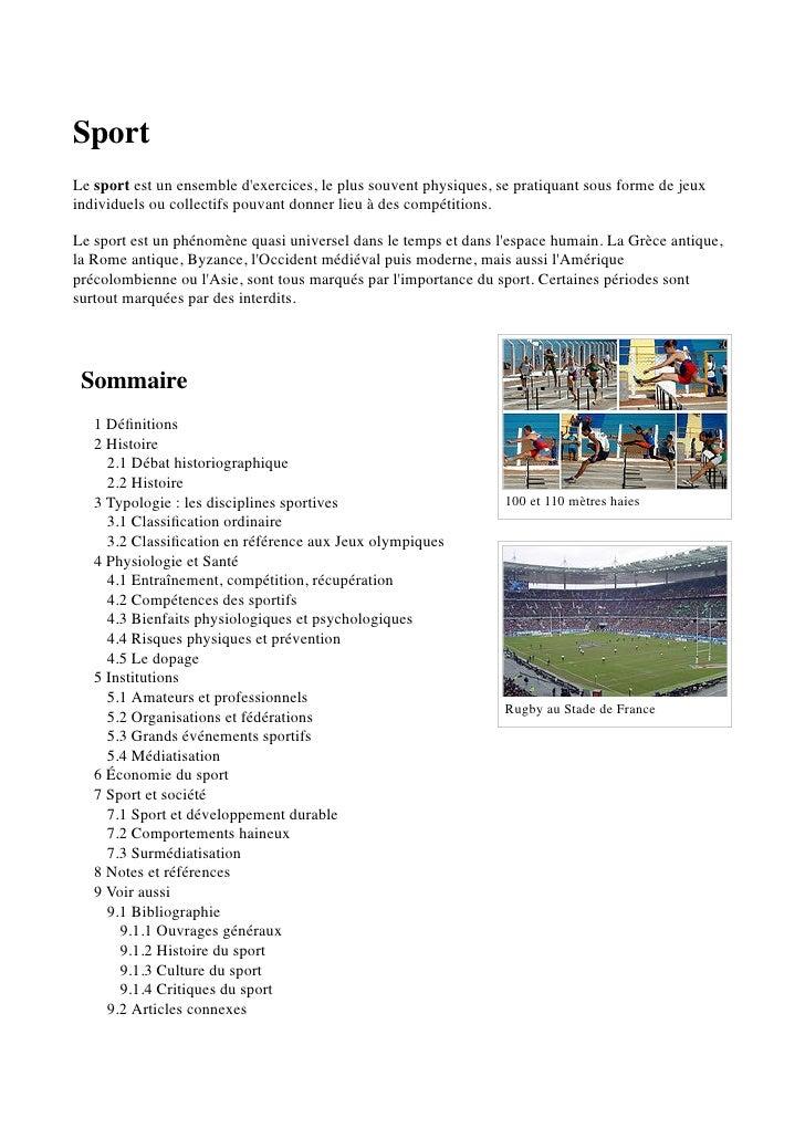 Sport   wikipédia - olivier hoen