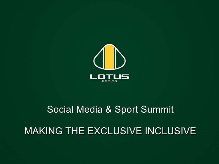 Social Media & Sport Summit MAKING THE EXCLUSIVE INCLUSIVE