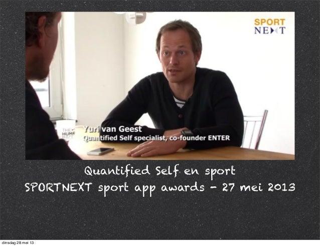 Quantified Self & Sports