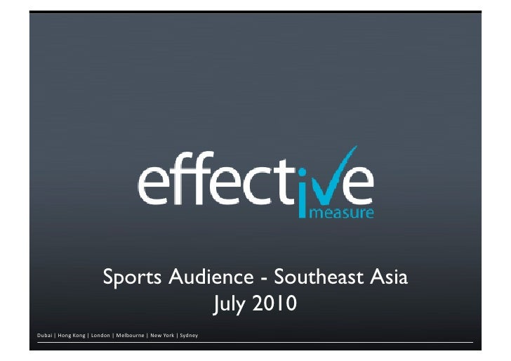 Sports Audience - Southeast Asia                                                       !                                  ...