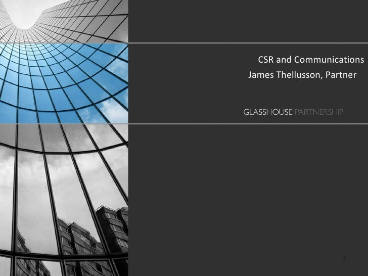 Communicating CSR