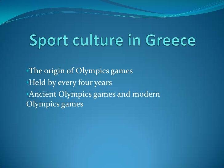 Sport Culture In Greece