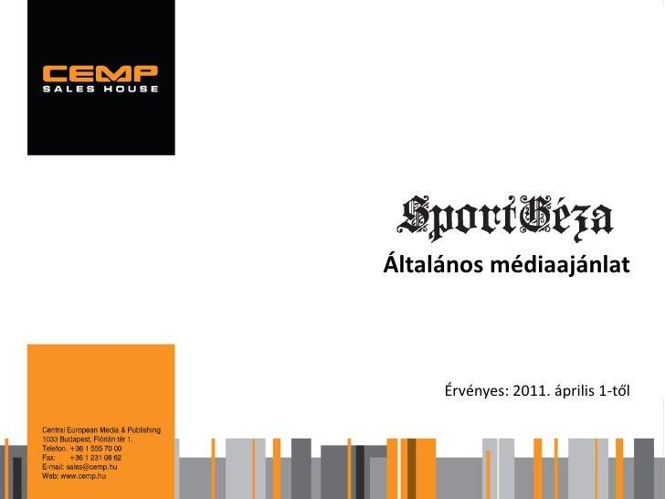 SportGéza médiaajánlat 2011
