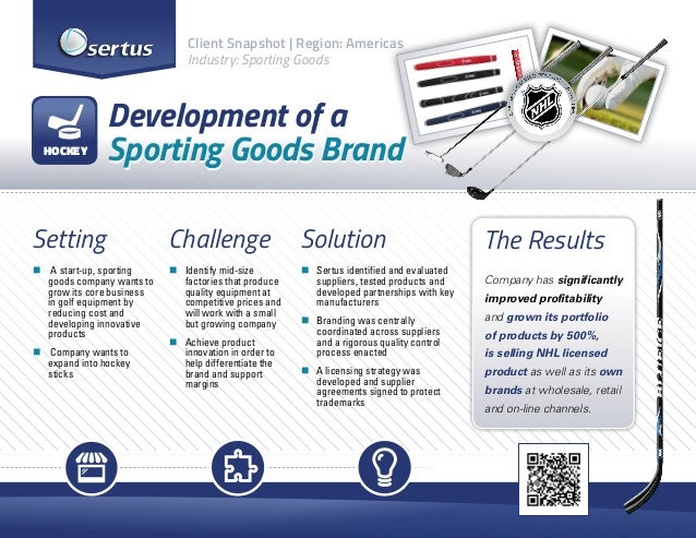 Start-Up Sporting goods company case study
