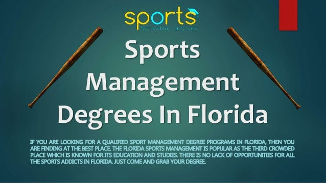 Sports Management dgree courses