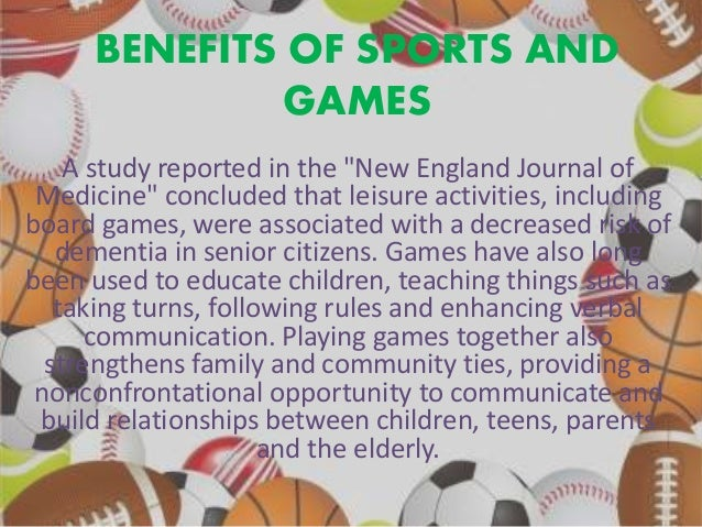 What are some benefits of sports?