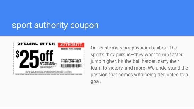 Sport authority coupon code