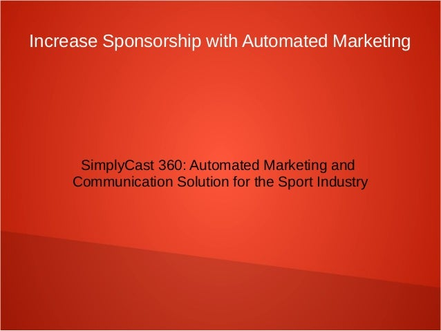 Automated Marketing Solution for the Sport Industry