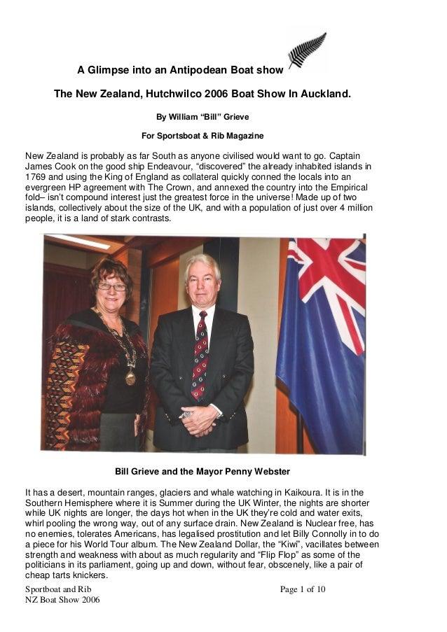 "New Zealand Boatshow 2006 - Sportsboat and rib magazine - by William ""Bill"" Grieve NZ"