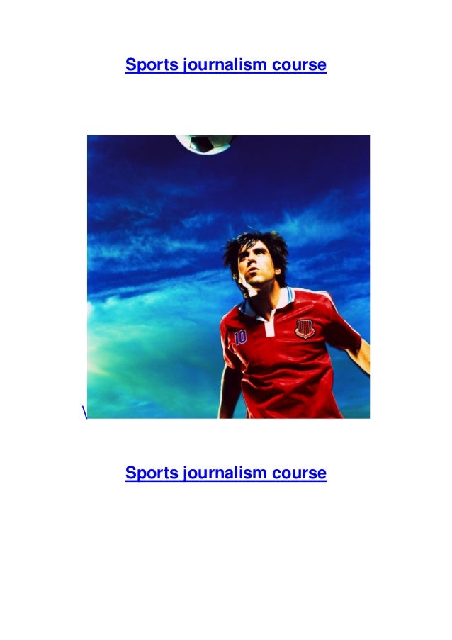 Become a sports journalist, with our distance learning course!
