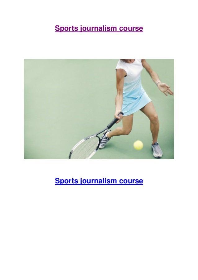 Sports journalism course  Sports journalism course