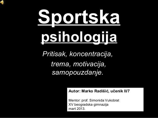 Sportska psihologija