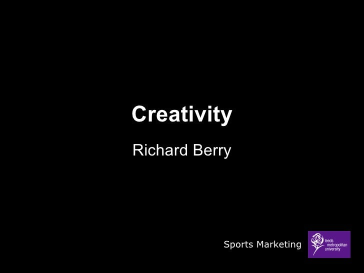 Sports Marketing Creativity Lecture