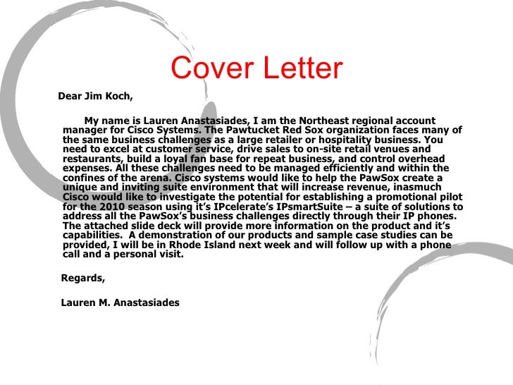sports marketing cover letter