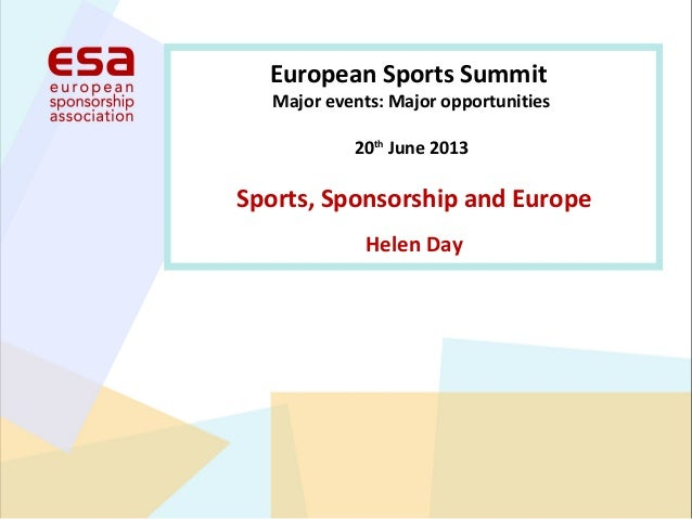 Sport, sponsorship and europe   helen day