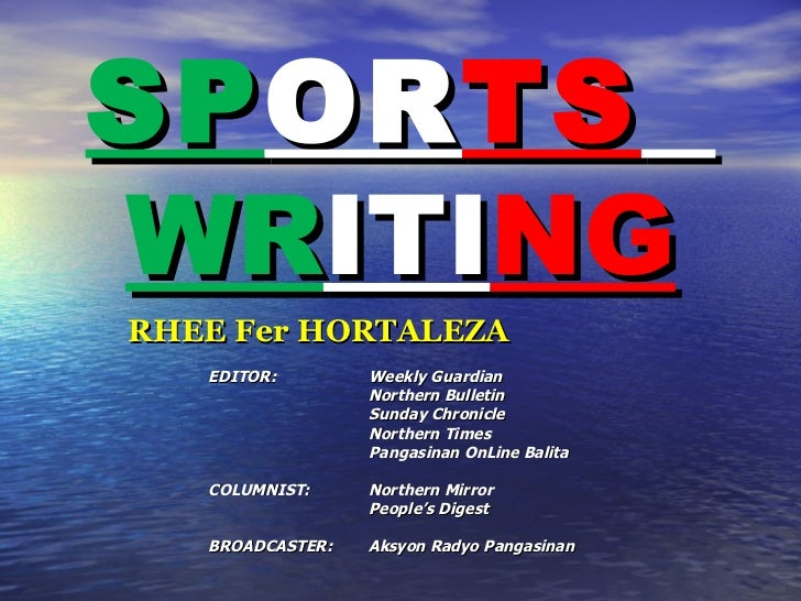 How to write a sports article