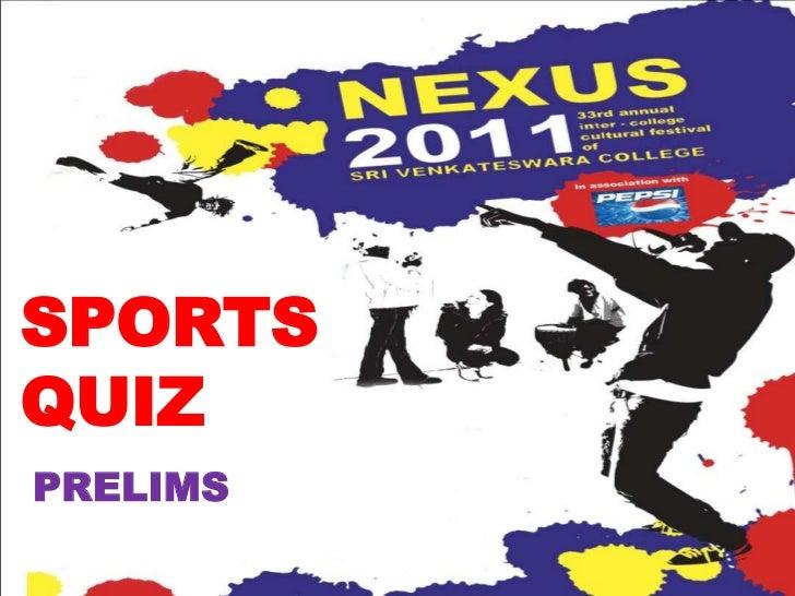 Sports prelims Quiz