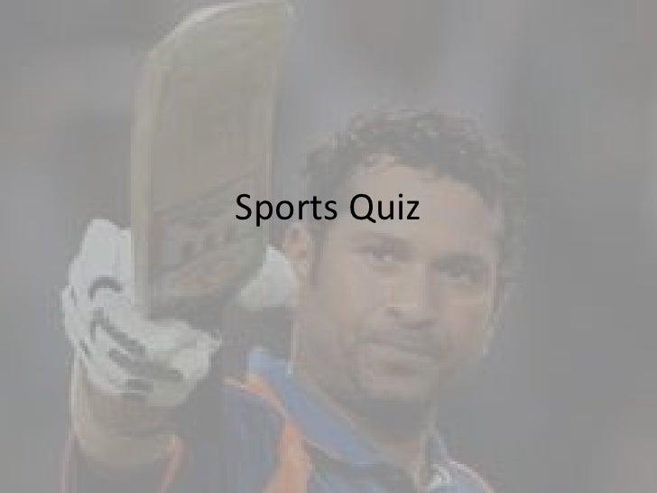 Sports Quiz<br />