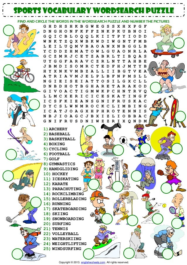 Modern Olympic Games word searches!