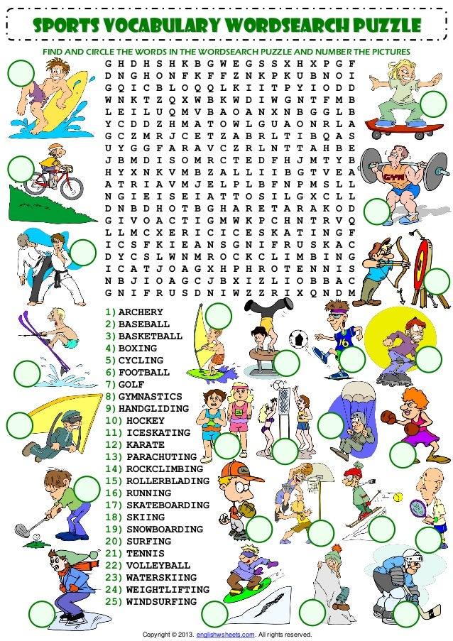 Esl vocabulary worksheets pdf