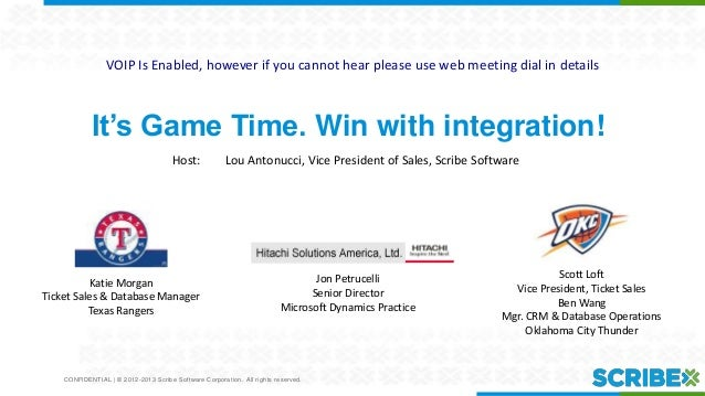 It Is Game Time! Win With Integration.