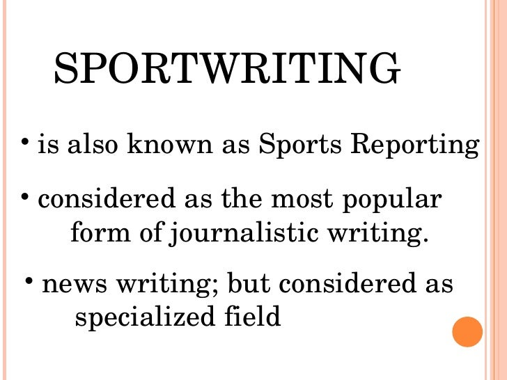 How to write a sports article for a newspaper