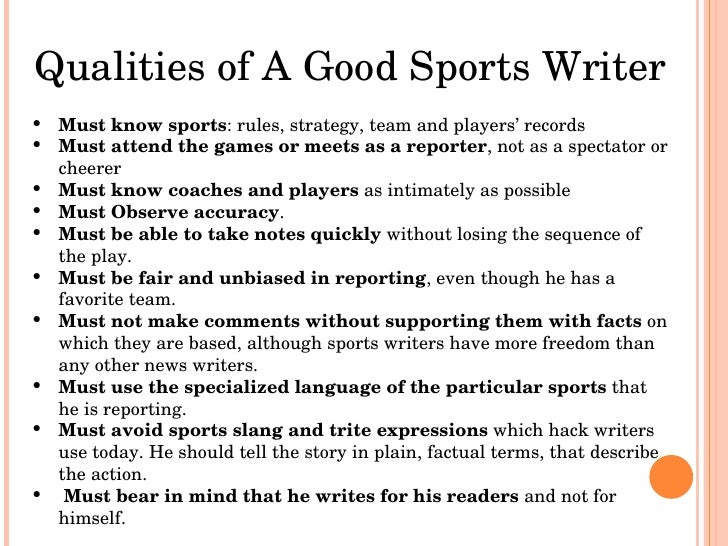Writing college essay about uncommon sport