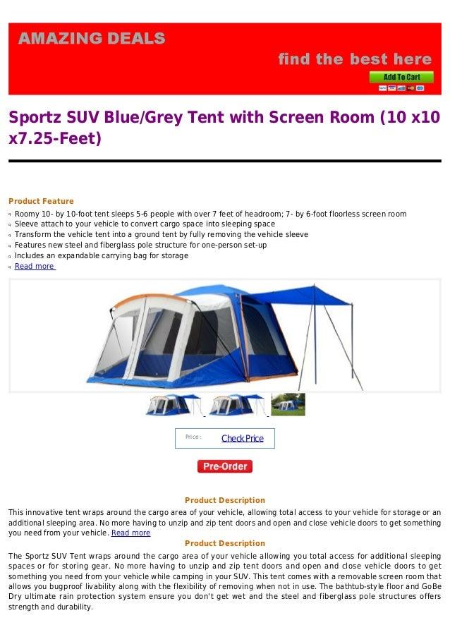 Sportz Suv Sportz Suv Blue/grey Tent With