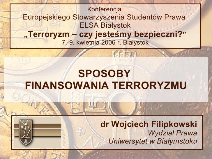 Sposoby Finansowania Terroryzmu