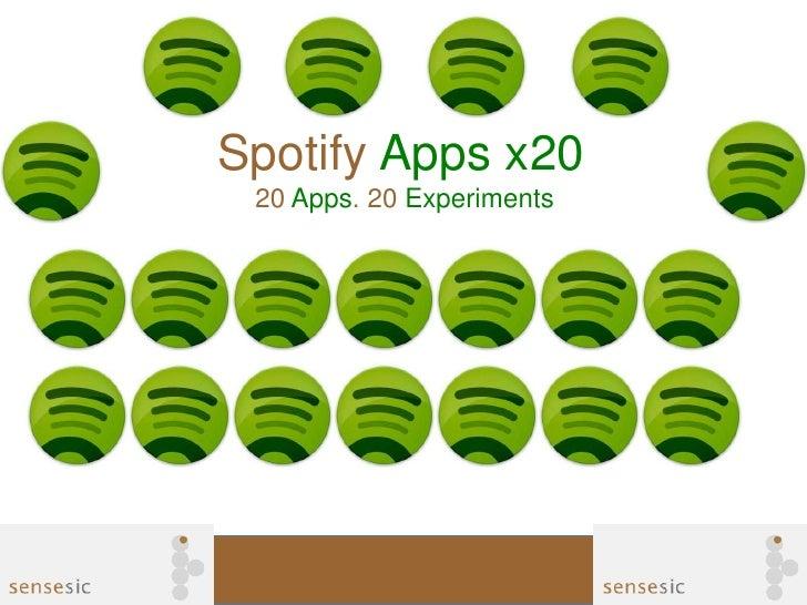 Spotify Apps x20