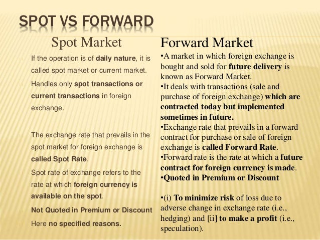 Currency futures vs spot forex