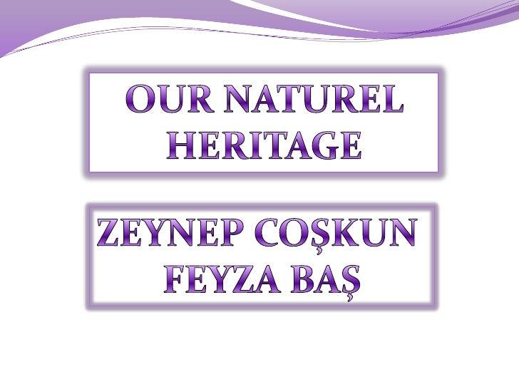 OUR NATUREL HERITAGE<br />ZEYNEP COŞKUN <br />FEYZA BAŞ<br />