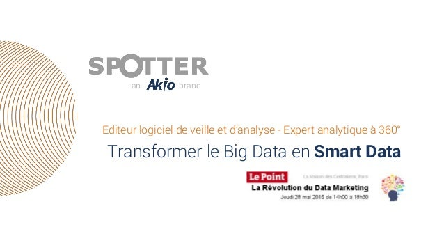 Editeur logiciel de veille et d'analyse - Expert analytique à 360° Transformer le Big Data en Smart Data an brand