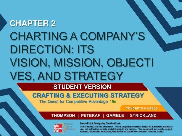 CHAPTER 2  CHARTING A COMPANY'S DIRECTION: ITS VISION, MISSION, OBJECTI VES, AND STRATEGY STUDENT VERSION