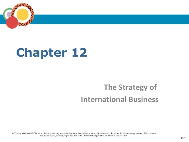 international business strategy hill International business: competing in the global marketplace by charles w l hill, 9780078112775, available at book depository with free delivery worldwide.
