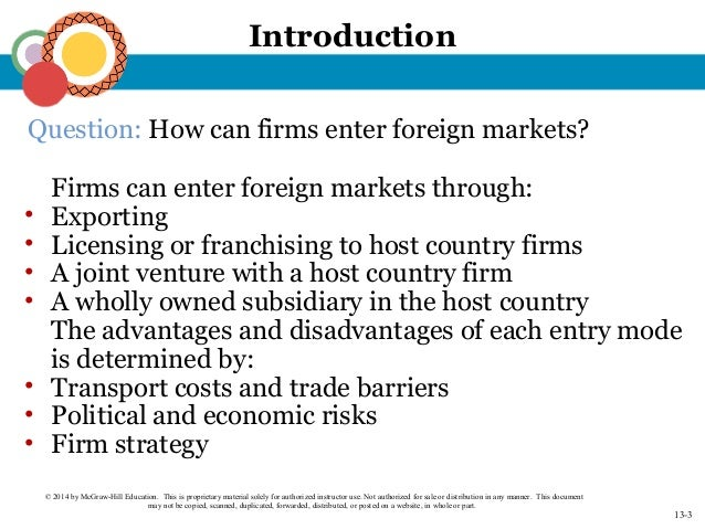 franchising mode of entry to a foreign market new zealand