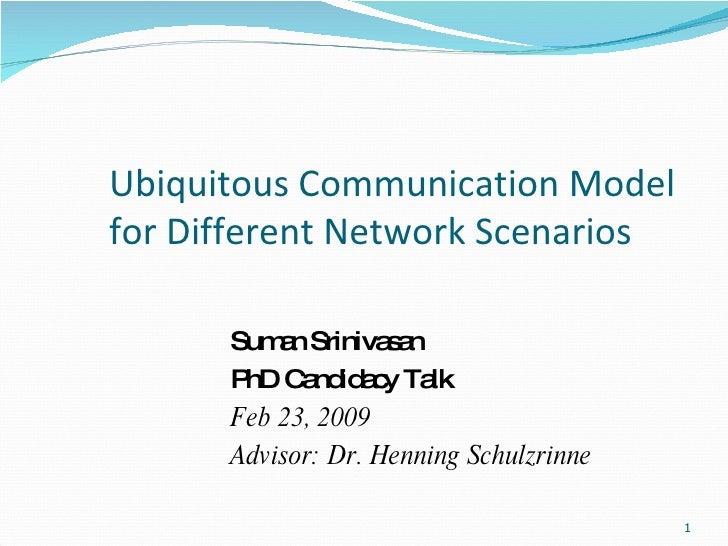Suman's PhD Candidacy Talk