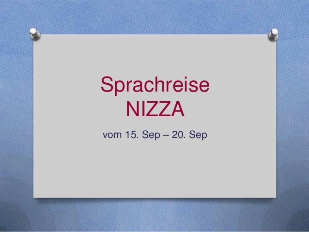 Sprachreise NIZZA vom 15. Sep – 20. Sep