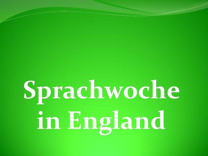 Sprachwoche in England