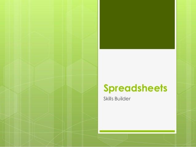 SpreadsheetsSkills Builder