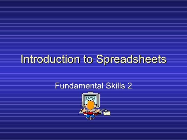 Spreadsheets 2