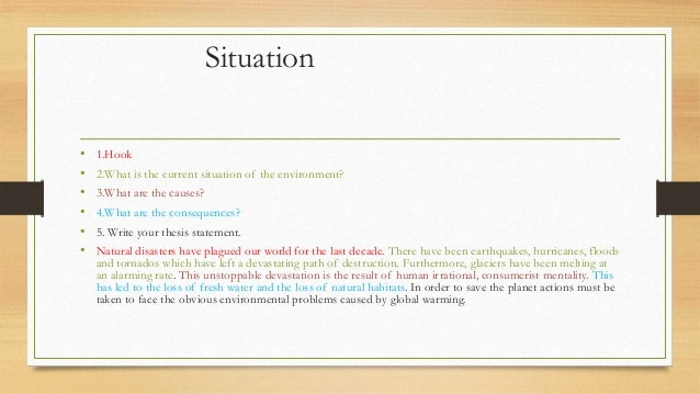 Is this a good hook for an essay about the environment?
